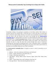 Moneycontrol Commodity Tips Assisting You to Enjoy the Profits.pdf