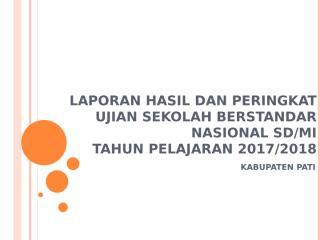 PAPARAN LAPORAN DAN PERINGKAT - USBN 2018.pptx