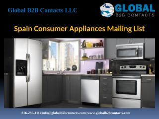 Spain Consumer Appliances Mailing List.pptx