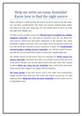 Help me write an essay Australia Know how to find the right source.doc
