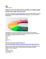 Global Cast Acrylic Sheets Market provides an in.pdf